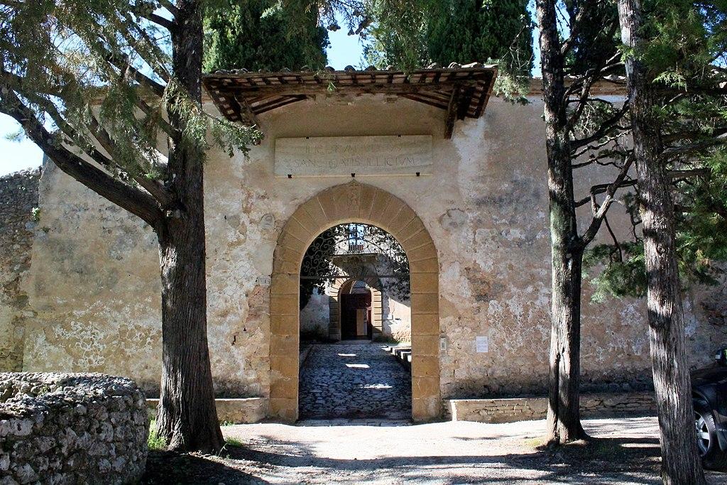 Entrance of the hermitage Eremo di San Salvatore di Lecceto, outside Siena
