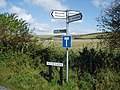 Signs at Week Lane - geograph.org.uk - 581367.jpg