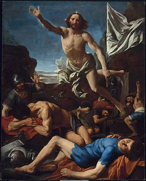 Simone Cantarini - The risen Christ
