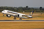Singapore Airlines A350-941 (9V-SML) taking off from Düsseldorf Airport (1).jpg