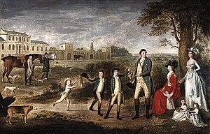 Sir William Erskine, 1st Baronet - Portrait of Erskine with his family, by David Allan