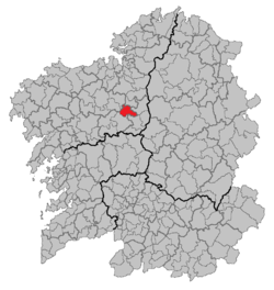 Location of Boimorto within Galicia