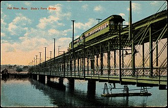 Slade's Ferry Bridge - Image: Slade's Ferry Bridge postcard