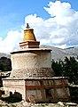 Smaller Tibetan Buddhist chorten in 2006 detail, from- Dolpopa's Great Stupa at Jomonang, Tibet (cropped).jpg