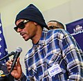 Snoop Dogg speaking at press conference (cropped).jpg