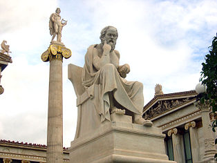Socrates by Leonidas Drosis, Athens - Academy of Athens.JPG