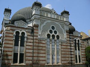 History of the Jews in Bulgaria - Sofia Synagogue designed by Austrian architect Friedrich Grünanger, established in 1909
