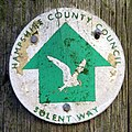 Solent Way direction marker, Bergeire, Beaulieu Estate - geograph.org.uk - 346551.jpg