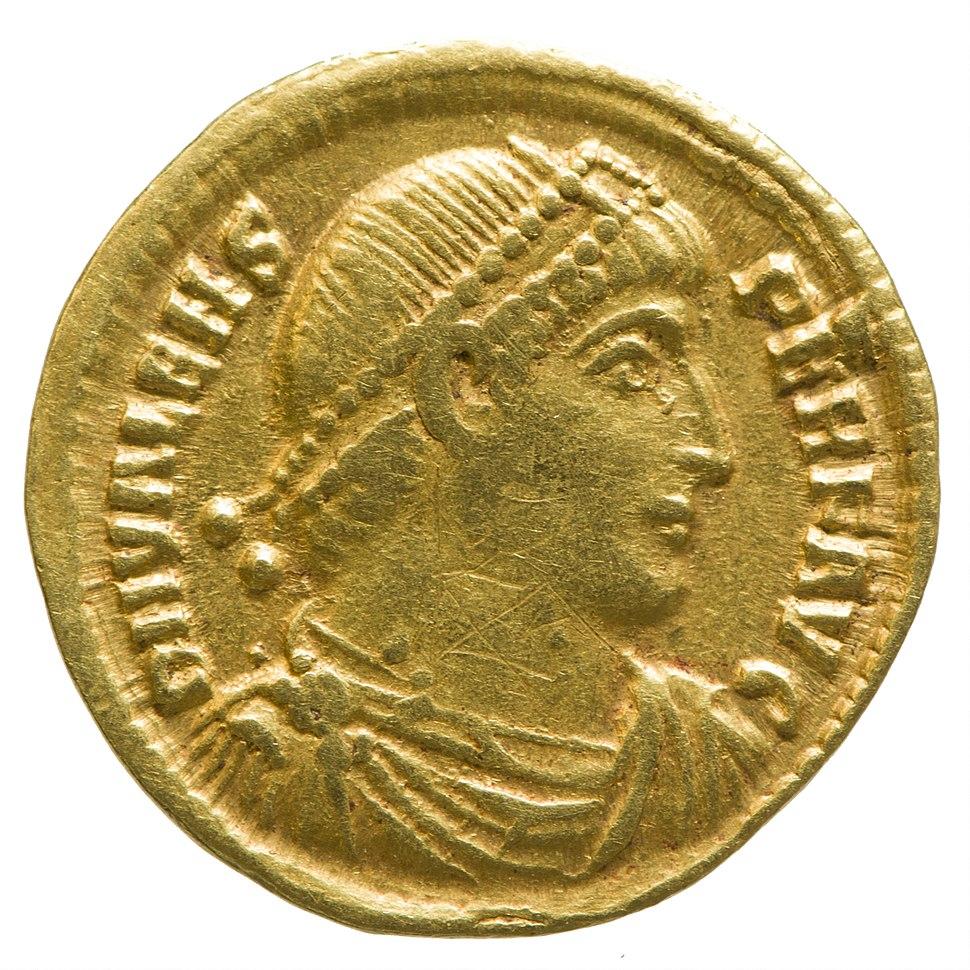Solidus of Valens (YORYM 2001 12460) obverse