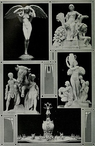 Audrey Munson - Munson posed for all these Panama-Pacific International Exhibition sculptures.
