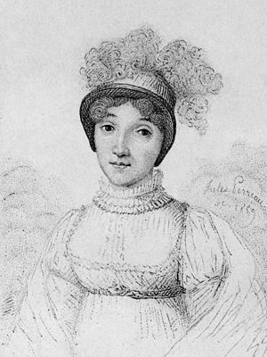 Sophie Blanchard - Blanchard shown in an 1859 engraving by Jules Porreau