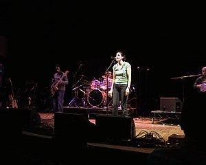 Souad Massi - Massi performing in 2005
