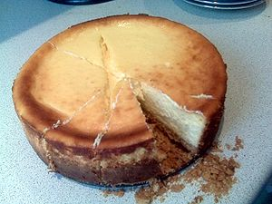 English: South-African Rose baked Cheese Cake ...