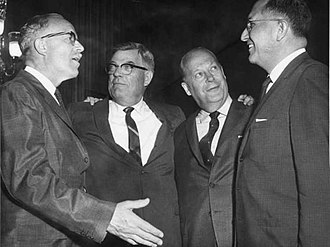 Ellis Yarnal Berry - South Dakota's congressional delegation in the 87th U.S. Congress. L-R: Ellis Y. Berry, Joseph H. Bottum, Karl E. Mundt, and Ben Reifel.