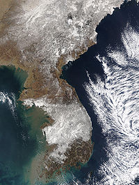 Record snowfall in South Korea on March 6, 2004