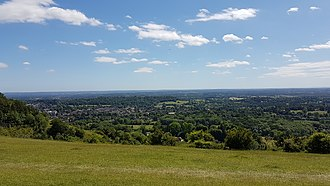 Colley Hill - Image: South from Colley Hill