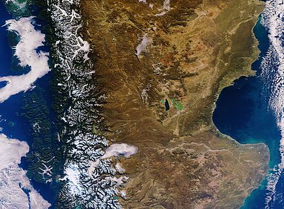 Envisat image, dominated by southern Argentina