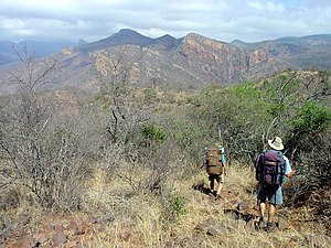 Soutpansberg - Hikers in the central Soutpansberg