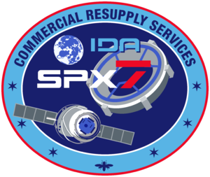 SpaceX CRS-7 - Image: Space X CRS 7 Patch