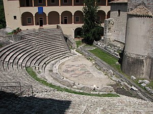 Spoleto - Roman theatre.