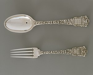 Spoon and fork, c.1878, silver, Metropolitan Museum of Art