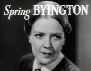 Spring Byington - Byington in the Little Women trailer (1933)