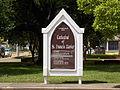 St. Francis Xavier Cathedral sign - Alexandria, Louisiana.JPG