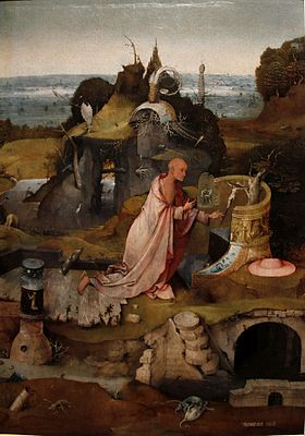 St. Jerome - The Hermit Saints Triptych by Hieronymus Bosch - Accademia - Venice 2016.jpg