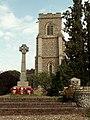St. Peter's church and War Memorial, Thurston, Suffolk - geograph.org.uk - 220998.jpg