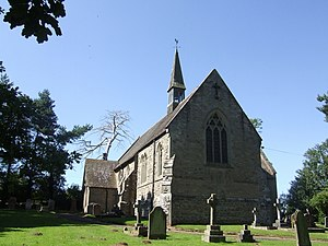 Thomas Wylde - Glazeley church beside Woodlands and Uplands