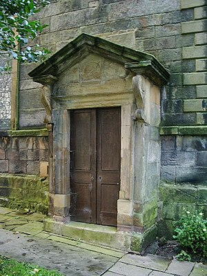 St Chad's Church, Poulton-le-Fylde - The entrance to the Fleetwood family vault