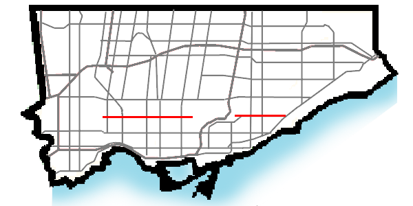 St Clair Ave map