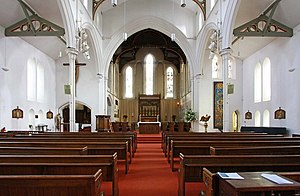 St James' Church, Norlands - The Interior, a view down the nave.