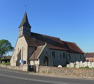 Lavant, West Sussex - Image: St Nicholas' Church, Mid Lavant (NHLE Code 1232537)