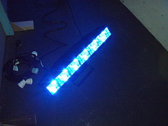 LED stage lighting - A front view of a Stagebar LED striplight
