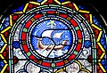 Stained glass window in Notre-Dame-de-la-Nativite Church of Cenac 02.jpg