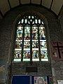 Stained glass window in St Andrew's Church, Buckland Monachorum 02.jpg