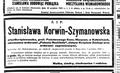 Stanisława Korwin-Szymanowska - nekrolog.png