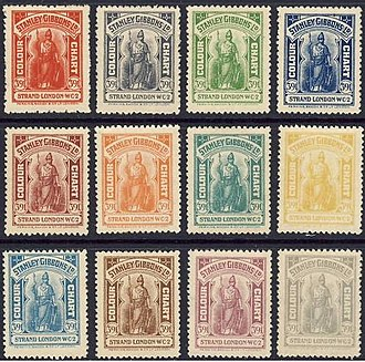 Stanley Gibbons - Stanley Gibbons colour guide stamps printed by Perkins Bacon