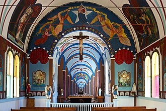 Star of the Sea Painted Church - Star of the Sea Painted Church, Kalapana, Hawai'i, built 1927-1928