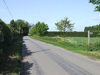 Gisleham - Country Road in Gisleham
