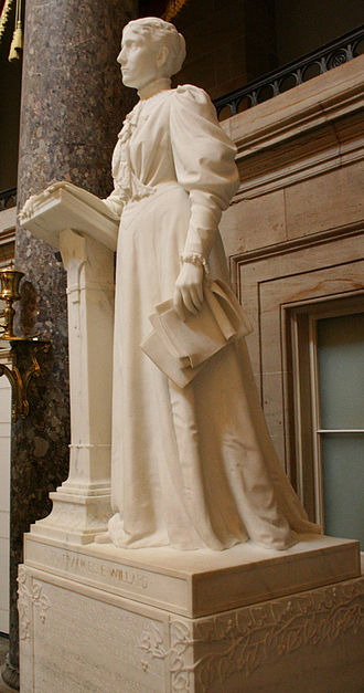 Frances Willard - Willard statue on display in the National Statuary Hall of the Capitol Building