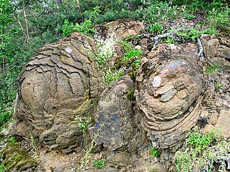 Thuringian Highland - The Steinerne Rose, a diabase rock formation near Saalburg-Ebersdorf