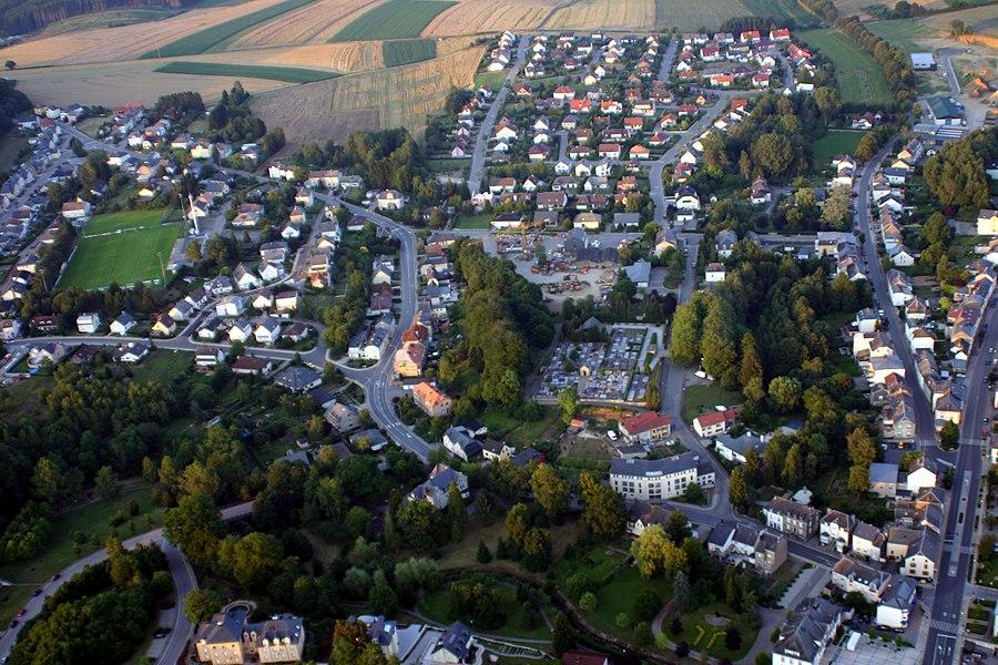 Loftopname vu Stengefort (Lëtzebuerg).