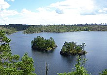 Stensjön, Tyresta national park, 2007-07-31, northern shore on Stensjöborg, view southeast.jpeg