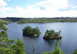 Tyresta National Park - Image: Stensjön, Tyresta national park, 2007 07 31, northern shore on Stensjöborg, view southeast