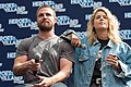 Stephen Amell and Emily Bett Rickards HVFFLondon2017Amell-ALS-10 (35273116776).jpg