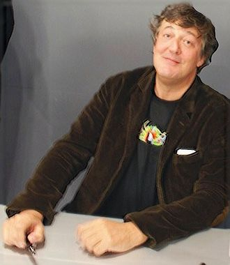 Stephen Fry - Fry signing autographs at the Apple Store, Regent Street, London, on 3 February 2009
