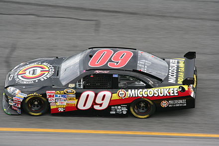No. 09 Cup racecar in 2008 Sterling Marlin 2008 Miccosukee Chevy Impala.jpg