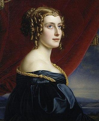 Jane Digby - Portrait of Digby by Joseph Karl Stieler (1831)